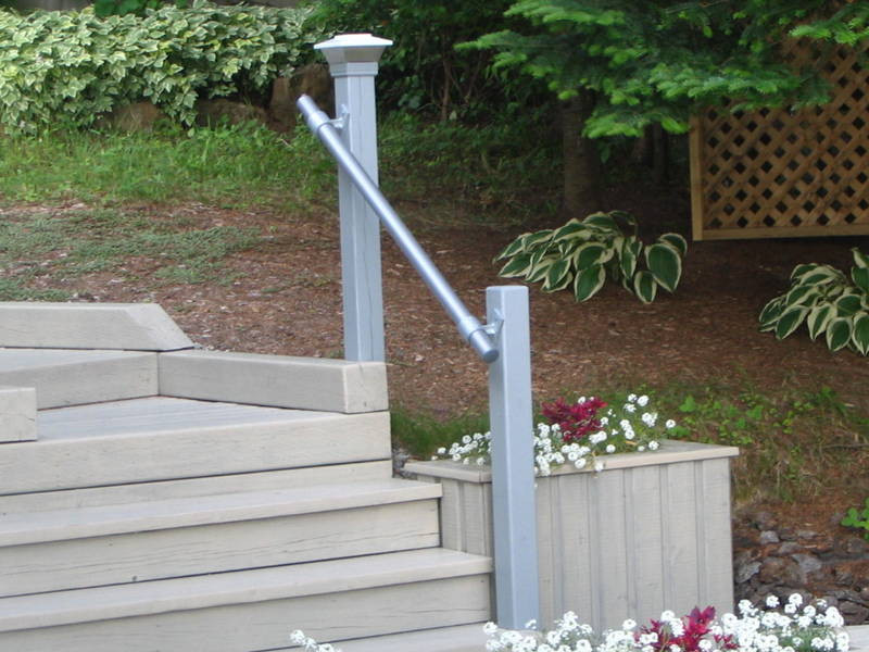 Wheelchair Ramp Kits >> SR-070 Side Fixed Wall Mounted Stair Handrail - Simplified Building