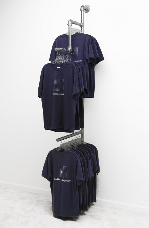 Wall Mounted Clothing Rail Display Simplified Building