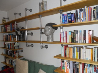 DIY space saving shelving