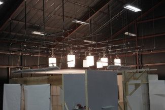 Industrial overhead lighting rig