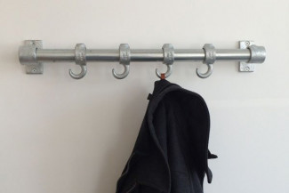 Build a DIY coat rack with hooks in 10 steps