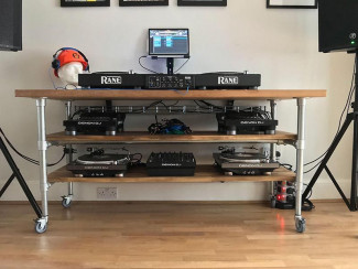 DIY DJ tables and home recording studio desks
