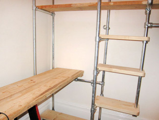 Scaffold furniture: Build your own storage units