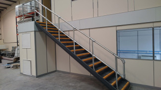 New angled stair fittings