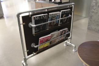 Kee Klamp magazine rack