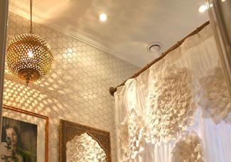 Bathroom remodel: Industrial shower curtain