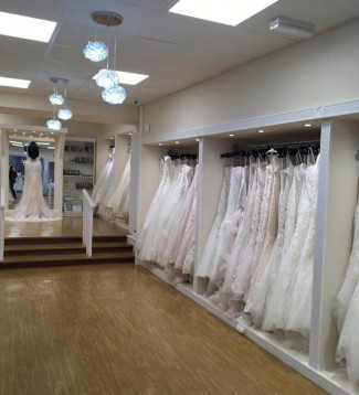 custom clothing rails for a bridal boutique