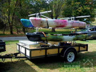 DIY kayak canoe storage rack ideas
