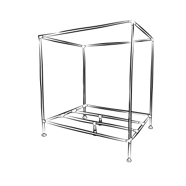 Windsor industrial canopy bed frame kit - King size