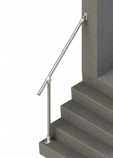 Wall-to-floor simple handrail for angles 30°-60° (SR-029C58)