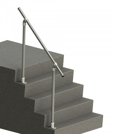 SR-C50 - Floor mounted handrail with adjustable fittings (Suitable for any angle)