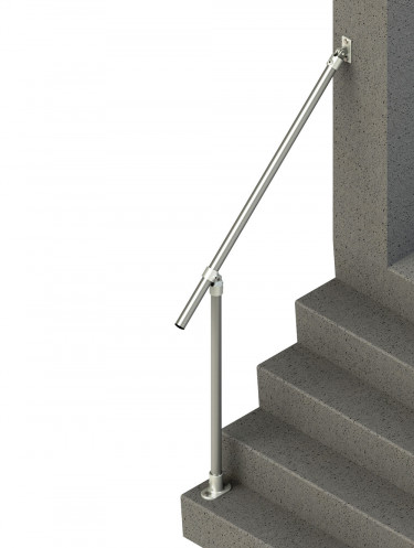 Variable angle stair handrail - Wall-to-floor (SR-C50C58)
