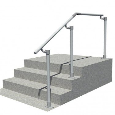 Variable angle offset handrail for steps and landing (SRL-518)
