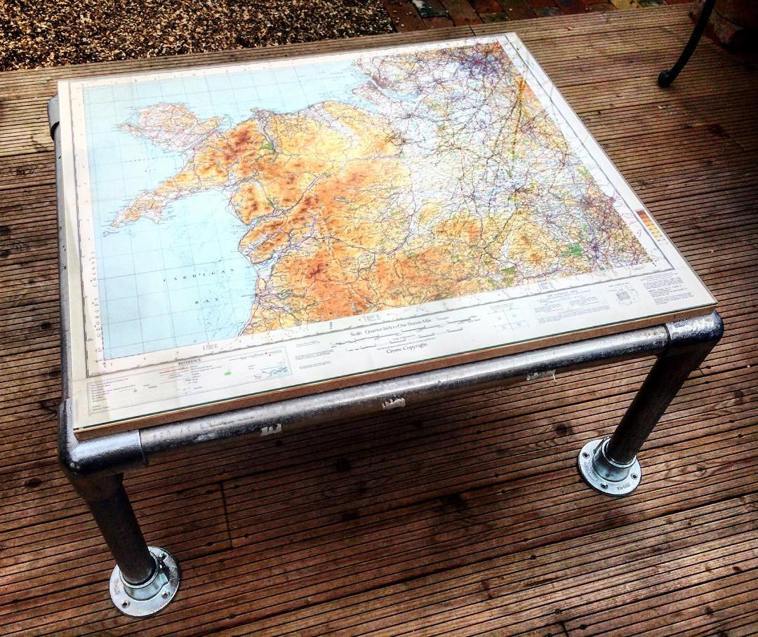 Build Your Own Coffee Table With Storage: Easy DIY Coffee Table: Map Design