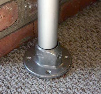Single table leg - Aluminium