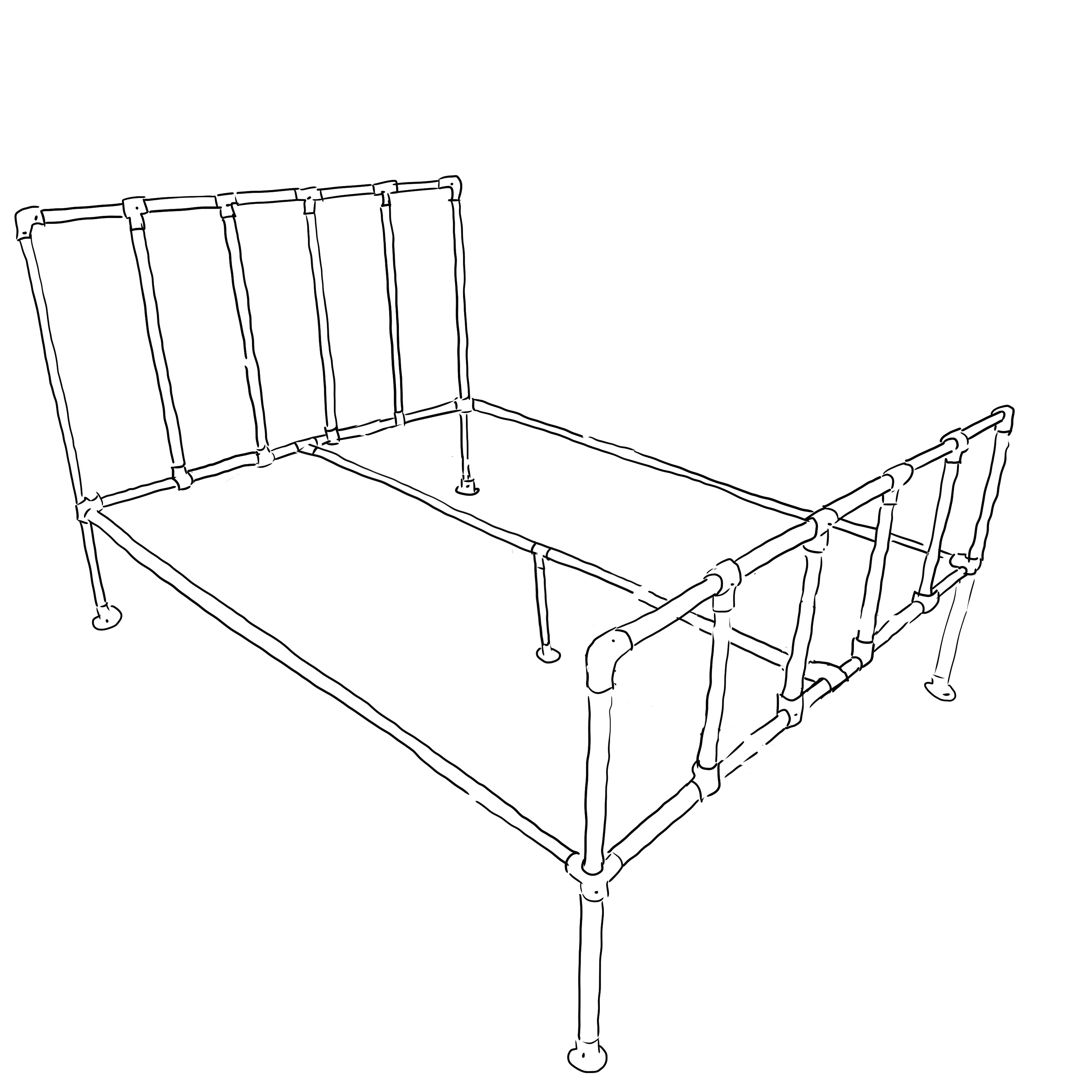 Camden industrial bed frame kit - Standard double