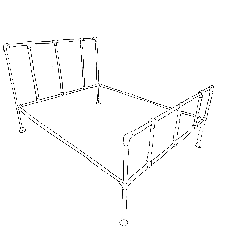 Camden industrial bed frame kit - Single