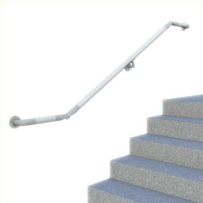wall mounted dda railing, render