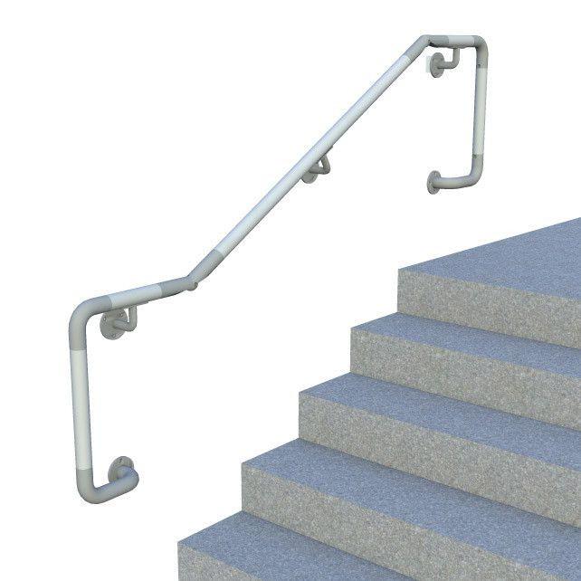 wall mounted dda handrail, entire kit