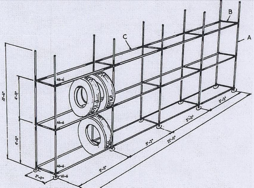 Diy Tyre Rack Simplified Building