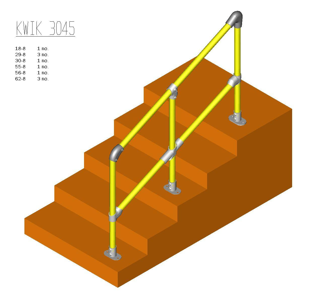 Kwik Kit Steel Step Kit 30 – 45 degrees