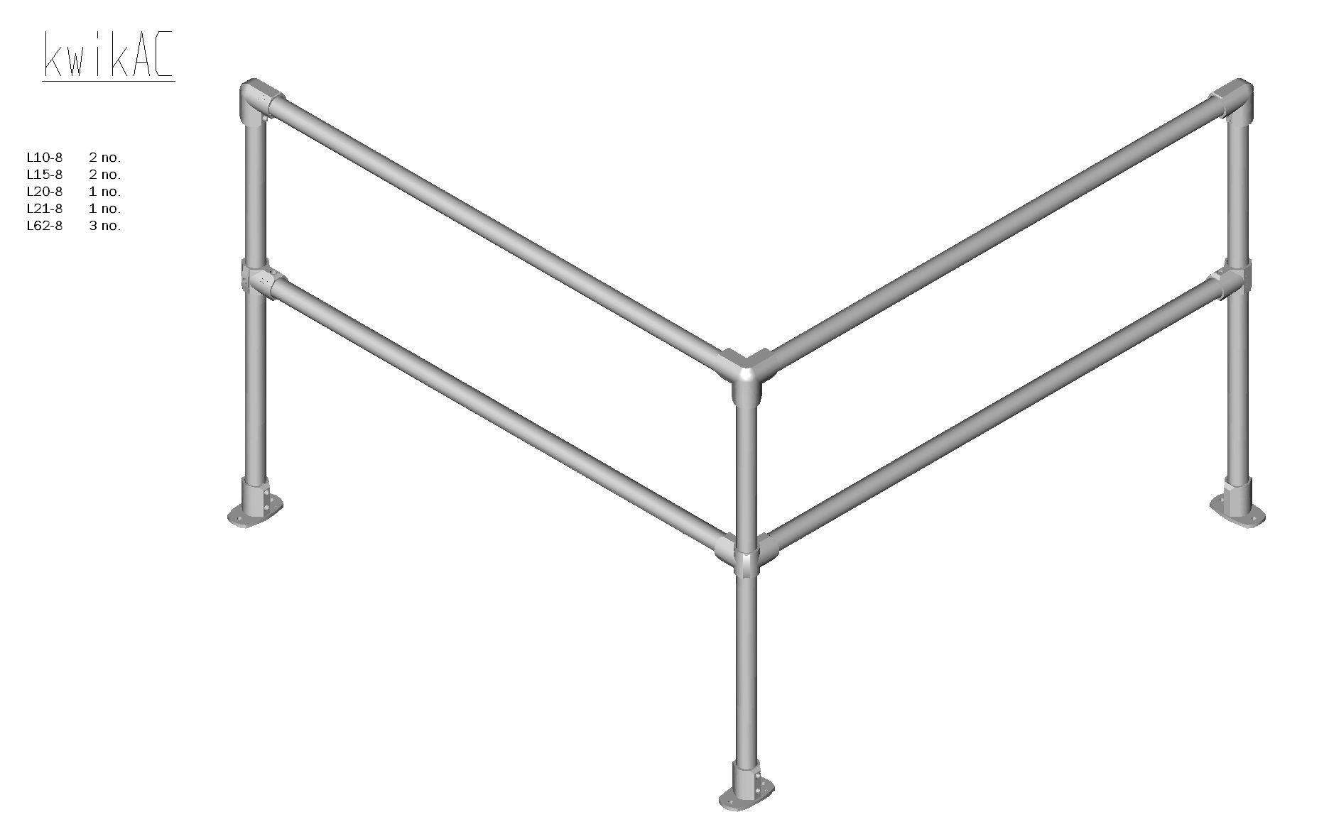 Kwik Kit Aluminium Corner Kit