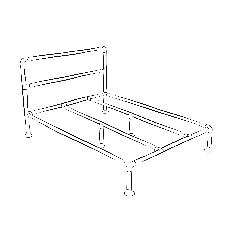 Barbican industrial bed frame kit - King size