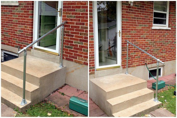 Own Diy Easy Install Simple Handrail, Wooden Handrails For Outdoor Steps Uk