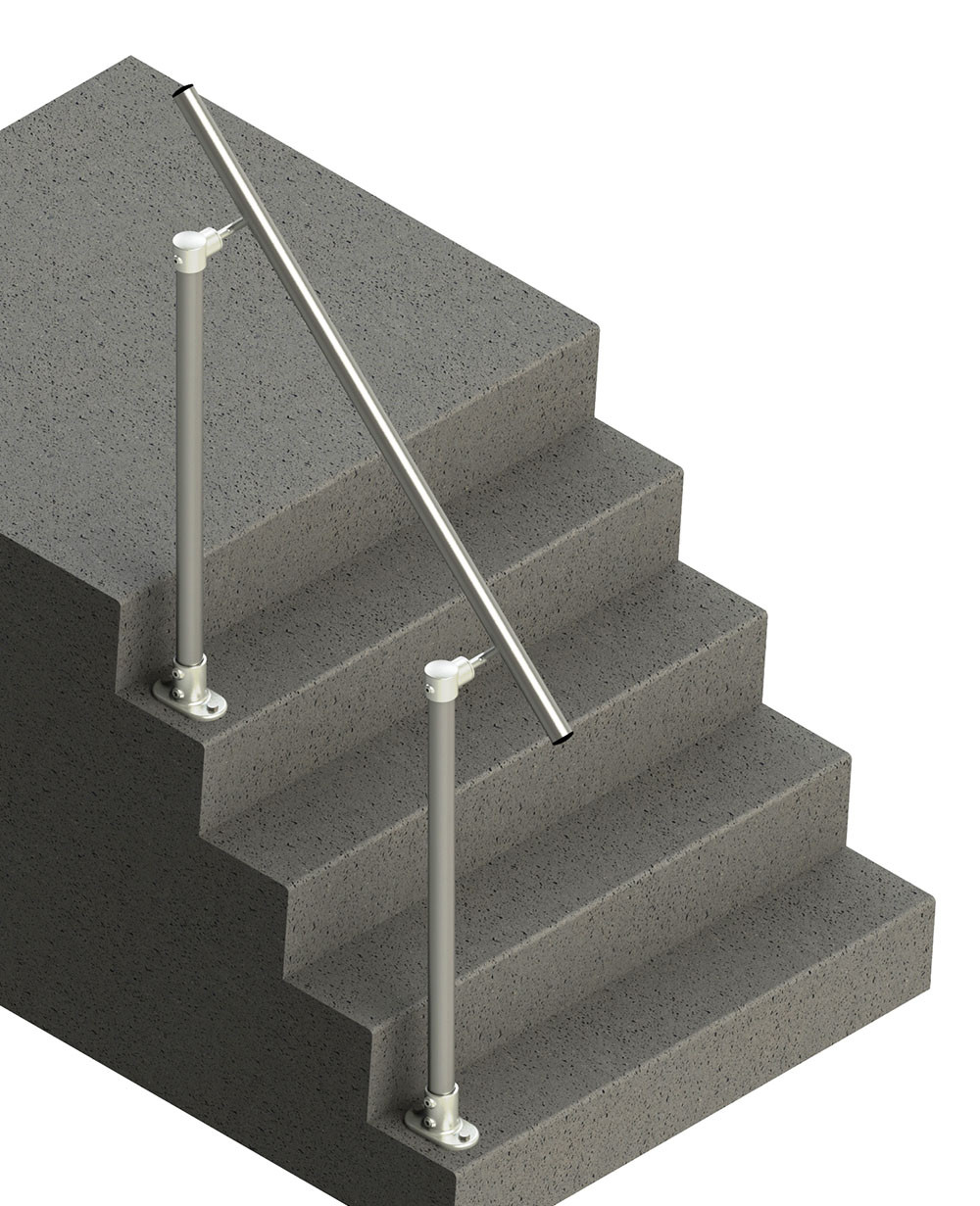 Floor mounted handrail kit, render