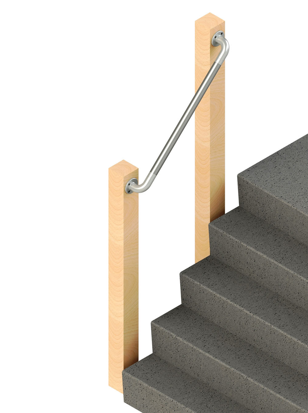 SR-565 Wall Mounted Handrail, render
