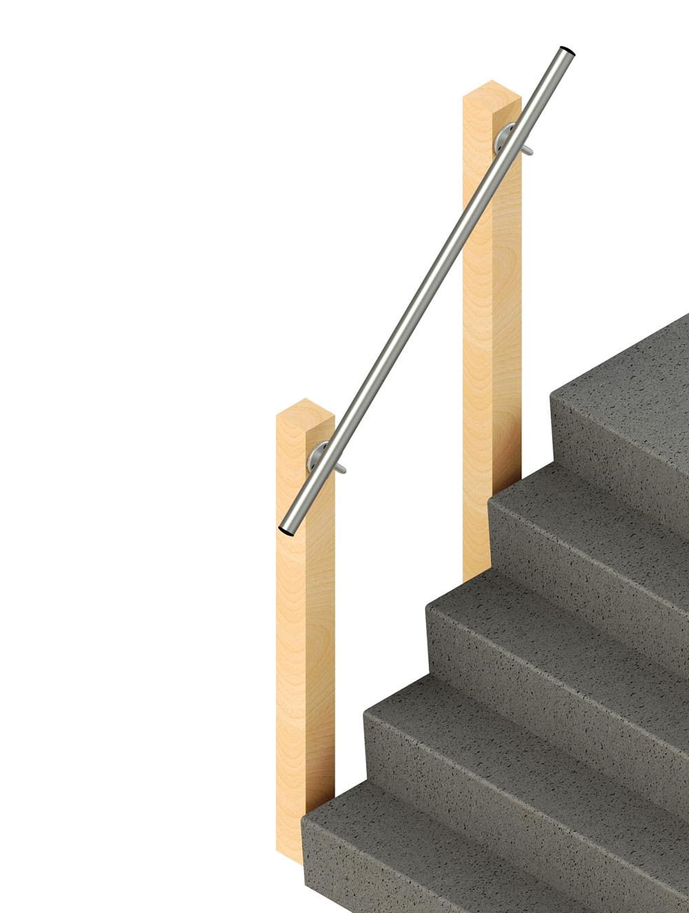 SR-570 Wall Mounted Handrail, render