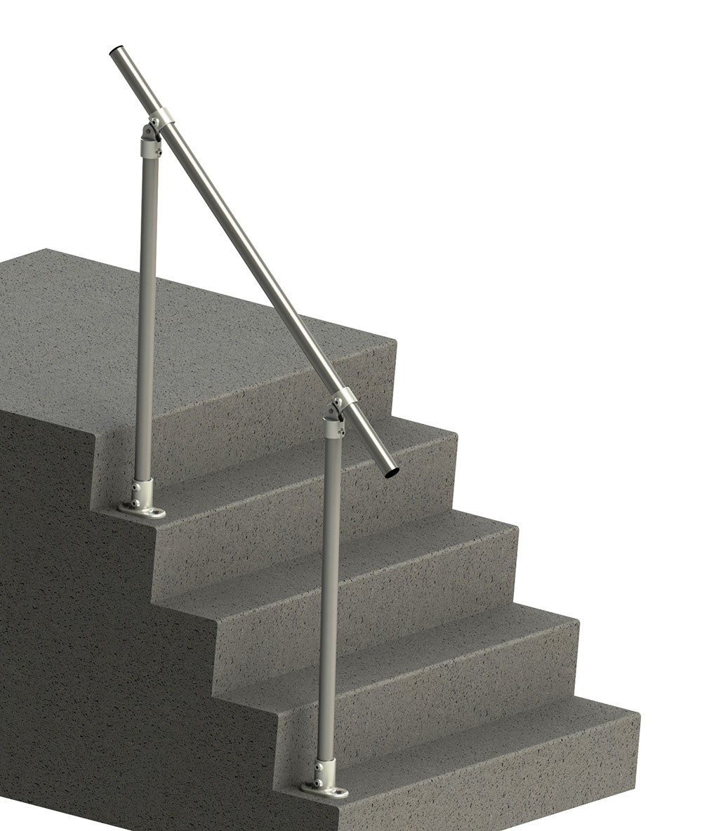 Adjustable angle handrail kit, render
