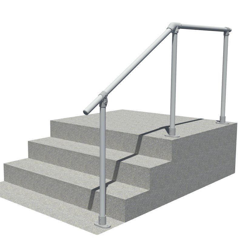 SRL29 steps to landing handrail, full render