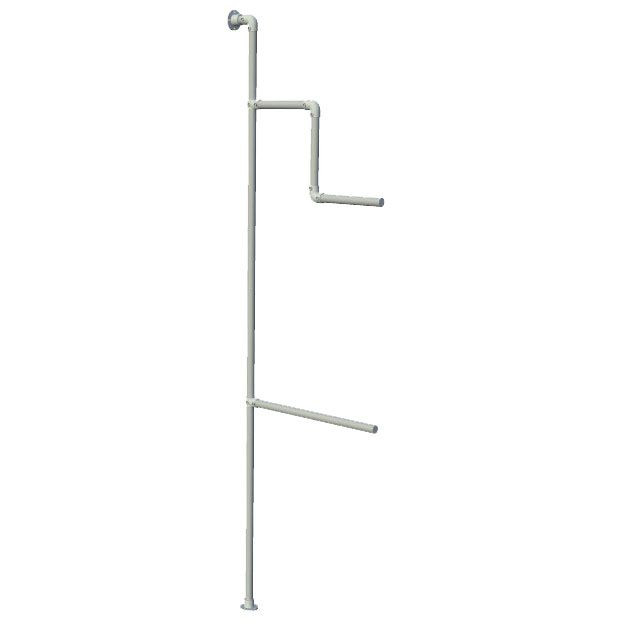 Wall mounted display rack for clothes
