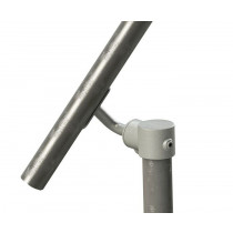 adjustable angle fitting for wall to floor railing