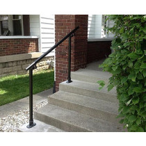 outdoor black handrail kit for stairs, slopes or flat surfaces