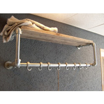wall mounted coat rack with hooks photo
