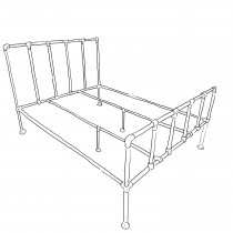 Camden industrial bed frame kit - King size