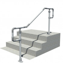 floor mounted dda handrail, render