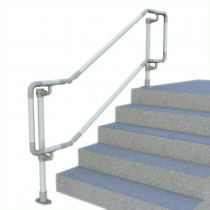 floor mounted double dda handrail, render