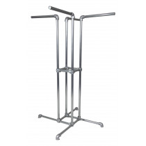 Four-way clothing rail (height 1.8m) - Suitable for clothing shops