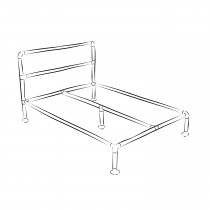 Barbican industrial bed frame kit - Standard double