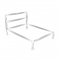 Barbican industrial bed frame kit - Single