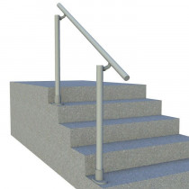 SR-160 steps to landing handrail, side render