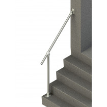 Wall-to-Floor Accessibility Stair Handrail, render