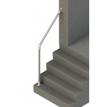 Terminated Wall-to-Floor Accessibility Stair Handrail, render