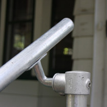 Detail of a Floor mounted handrail kit