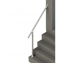 SR-C50C58 Adjustable Wall-to-Floor Accessibility Stair Handrail, side render