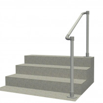 SR-567 - Floor mounted handrail system with rounded ends (Suitable for any angle)