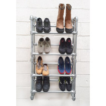wall mounted shoe rack with shoes